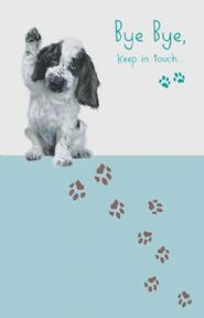 Paw Prints Goodbye Card